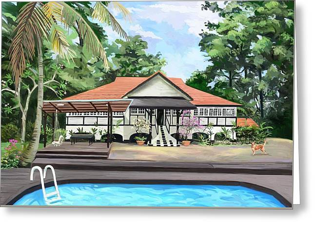 Wacom Tablet Greeting Cards - Freddies House Greeting Card by Plum Ovelgonne