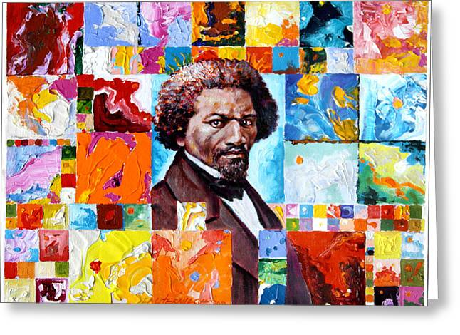Frederick Douglass Greeting Card by John Lautermilch
