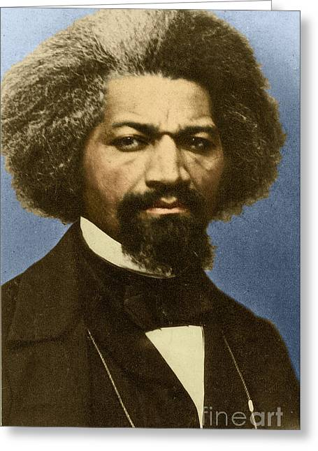 Slavery Greeting Cards - Frederick Douglass Greeting Card by Science Source