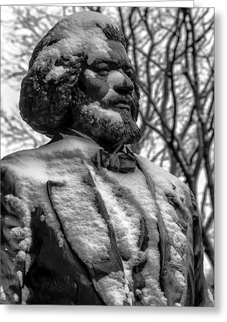 Frederick Douglass Statue Ny Historical Society Greeting Card by Robert Ullmann