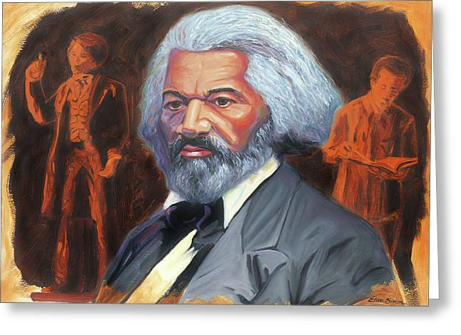 Abolitionist Paintings Greeting Cards - Frederick Douglass Greeting Card by Steve Simon