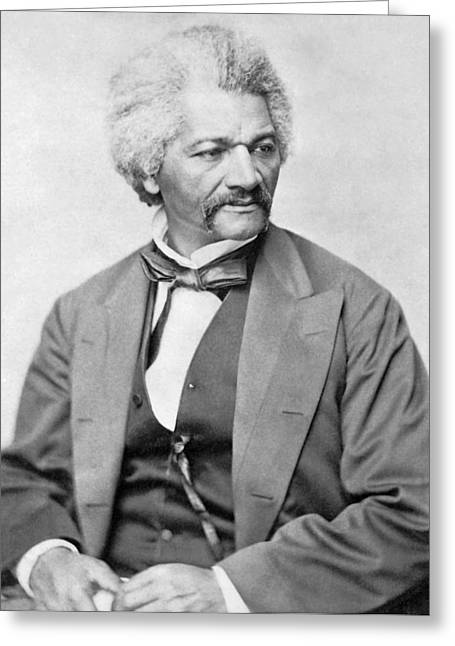 Civil Greeting Cards - Frederick Douglass Greeting Card by War Is Hell Store