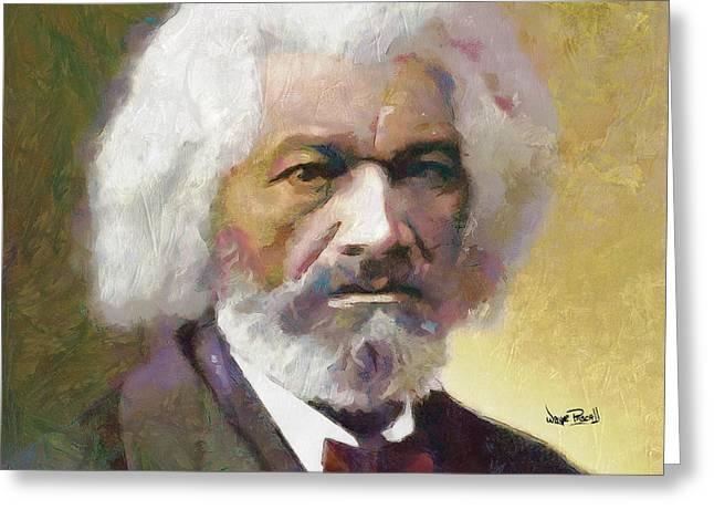 Frederick Douglass Greeting Card by Wayne Pascall