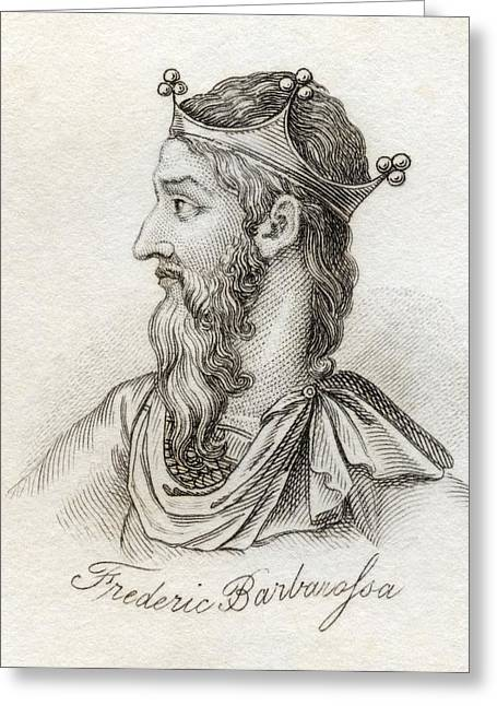 Frederick I Barbarossa 1122 - 1190 Holy Greeting Card by Vintage Design Pics