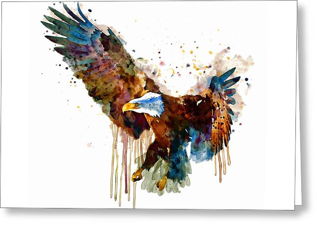 Free And Deadly Eagle Greeting Card by Marian Voicu