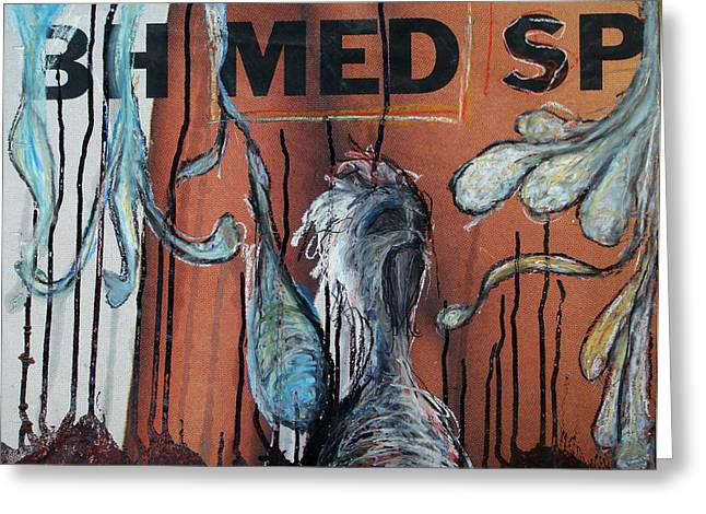 Oil Mixed Media Greeting Cards - Free Art Number 1005  Greeting Card by Mark M  Mellon