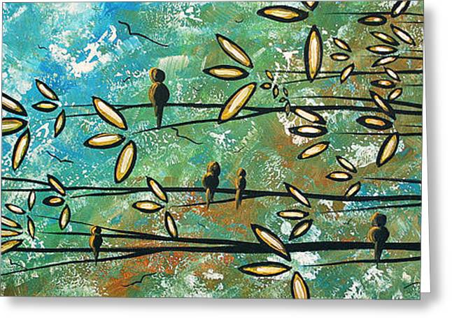 Licensor Greeting Cards - Free as a Bird by MADART Greeting Card by Megan Duncanson