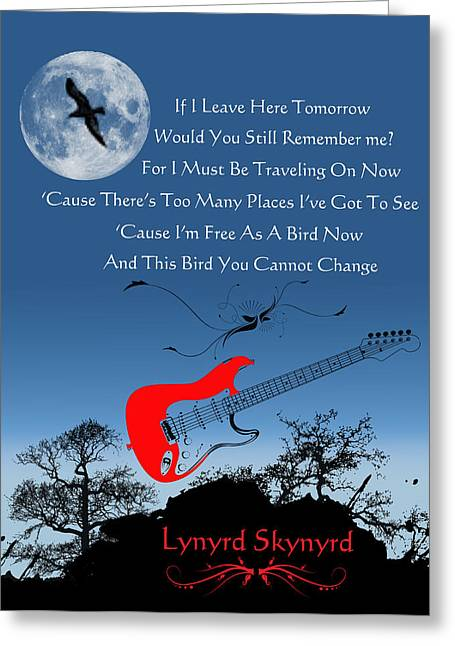 Rock Roll Greeting Cards - Free Bird Greeting Card by Michael Damiani