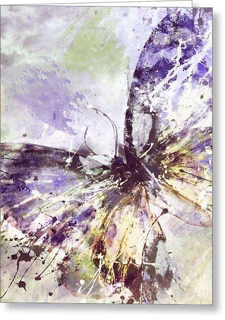 Beautiful Purples Greeting Cards - Free Butterfly Greeting Card by Mindy Sommers