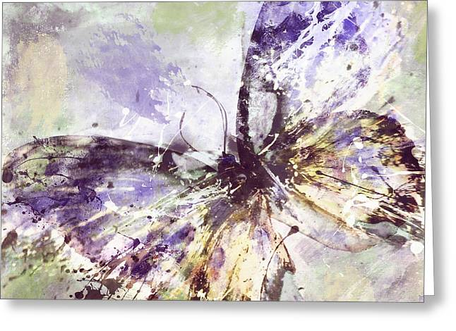 Butterflies Paintings Greeting Cards - Free Butterfly Greeting Card by Mindy Sommers