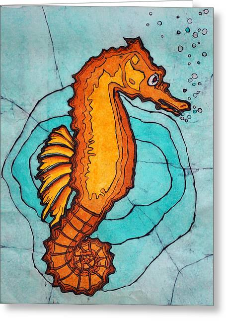 Sea Animals Greeting Cards - Free Floating Greeting Card by Shari Carlson