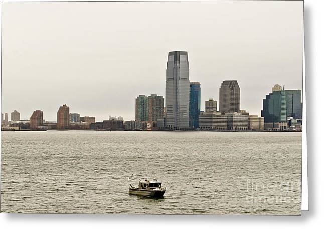 Ferry In New York Greeting Cards - Free from hustle and bustle Greeting Card by Elena Perelman