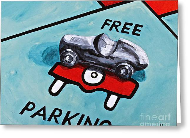 Free Parking Greeting Card by Herschel Fall