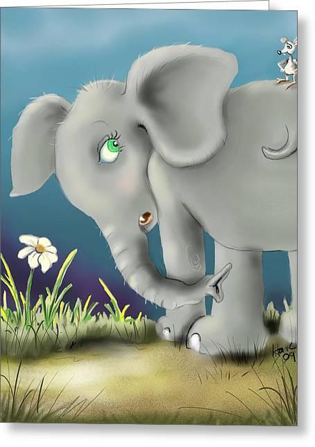 Mice Digital Art Greeting Cards - Free Ride Greeting Card by Hank Nunes