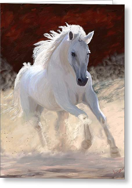 White Digital Greeting Cards - Free Spirit Greeting Card by James Shepherd