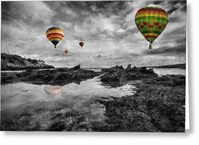 Hot Air Balloon Ride Greeting Cards - Free Spirits Greeting Card by Ian Mitchell