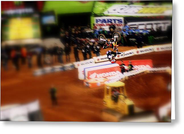 Supercross Greeting Cards - Free Stylin Greeting Card by Jason Blalock