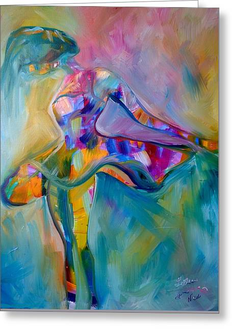 Ballet Dancers Greeting Cards - Free to be Me Greeting Card by Lillian Neal