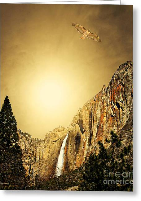 Free To Soar The Boundless Sky . Portrait Cut Greeting Card by Wingsdomain Art and Photography