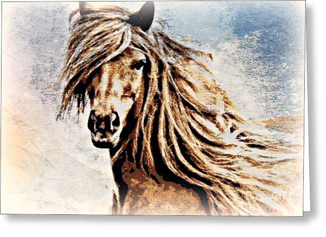 Horse Lover Pastels Greeting Cards - Free Greeting Card by Wbk