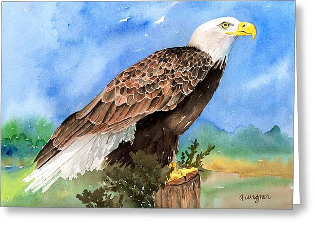 Eagle Paintings Greeting Cards - Freedom Greeting Card by Arline Wagner