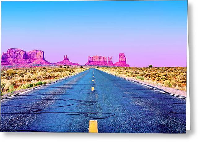 Road Travel Greeting Cards - Freedom Greeting Card by Az Jackson