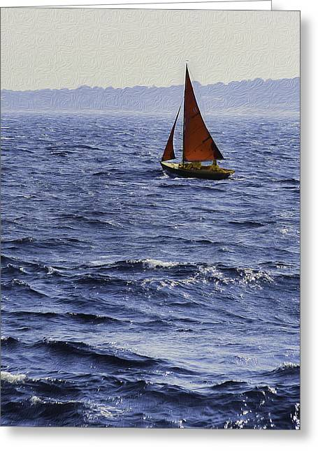 New England Ocean Greeting Cards - Freedom Greeting Card by Billy Bateman