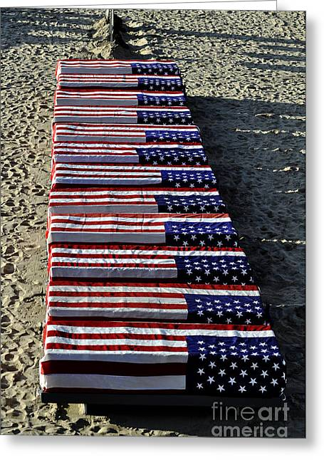 Freedom Costs Greeting Card by Clayton Bruster