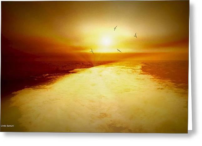 Freedom escape Greeting Card by Linda Sannuti