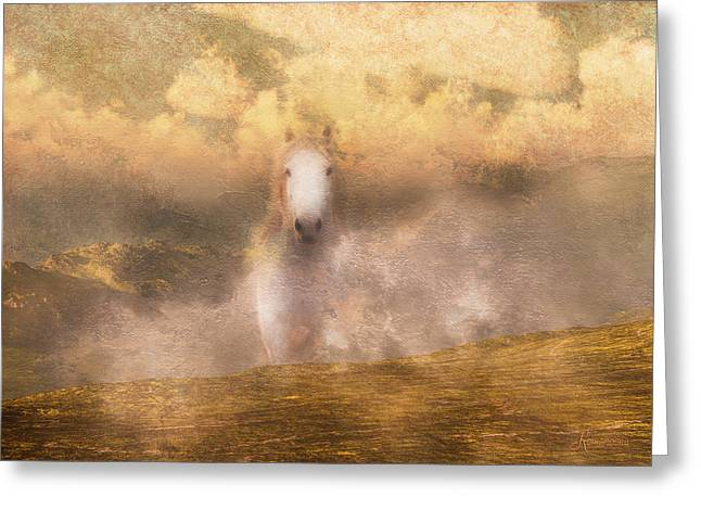 Mystical Landscape Mixed Media Greeting Cards - Freedom Greeting Card by Georgiana Romanovna