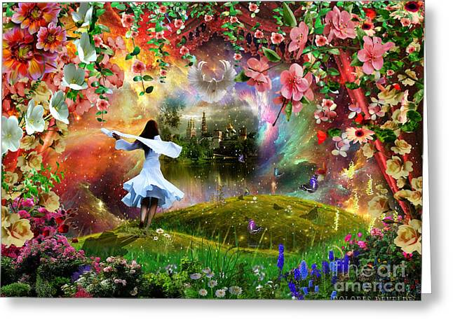 Presence Greeting Cards - Freedom in the Presence of The Lord Greeting Card by Dolores Develde