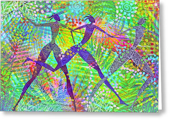 Freedom in The Rain Forest Greeting Card by Jennifer Baird