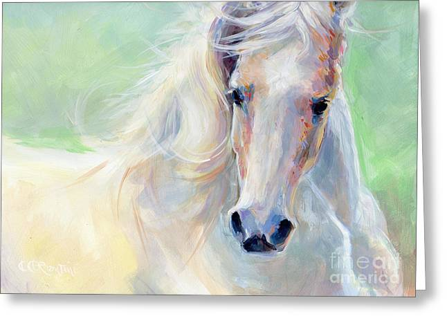 White Paintings Greeting Cards - Freedom Greeting Card by Kimberly Santini