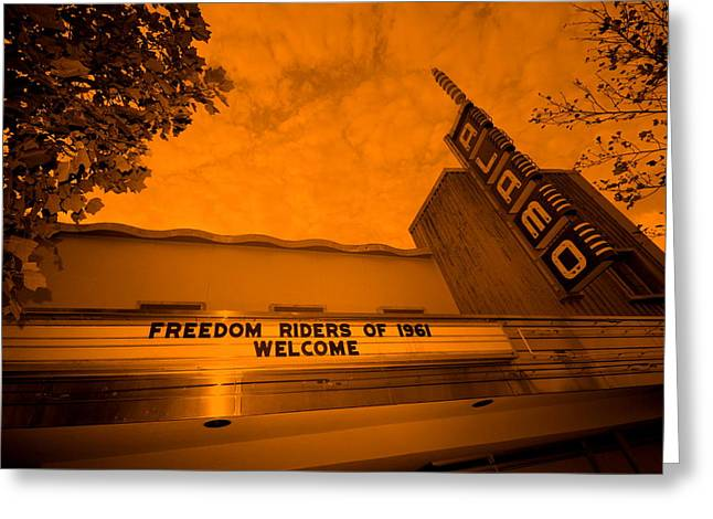 Race Relations Greeting Cards - Freedom Riders of 1961 Welcome Greeting Card by Thomas Morgan