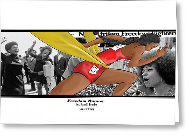 Kreativ Greeting Cards - Freedom Runner Greeting Card by Donald Beasley