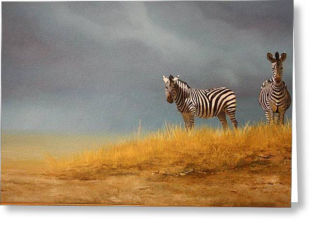 Zimbabwe Paintings Greeting Cards - Freedom Greeting Card by Sean Webster