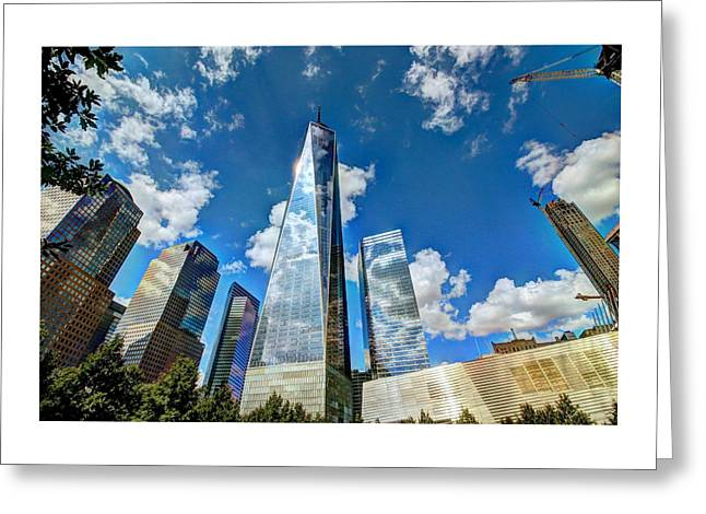 Terrorism Greeting Cards - Freedom Tower  Greeting Card by Allen Beatty