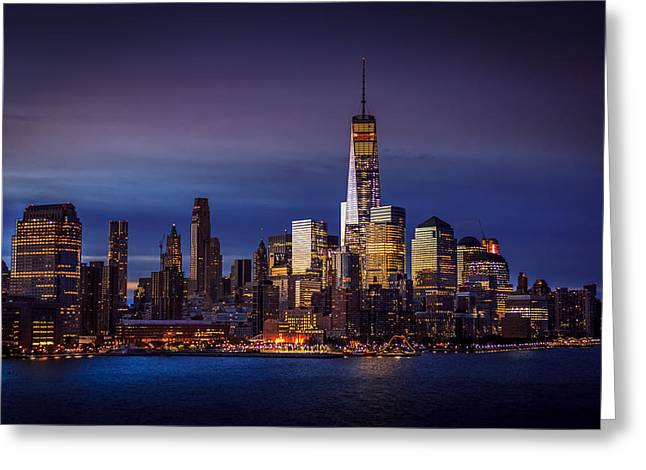 Freedom Tower Greeting Card by Gerd Fischer