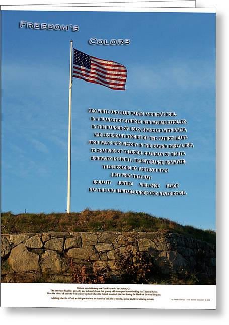 Freedom's Colors Greeting Card by Patrick J Maloney