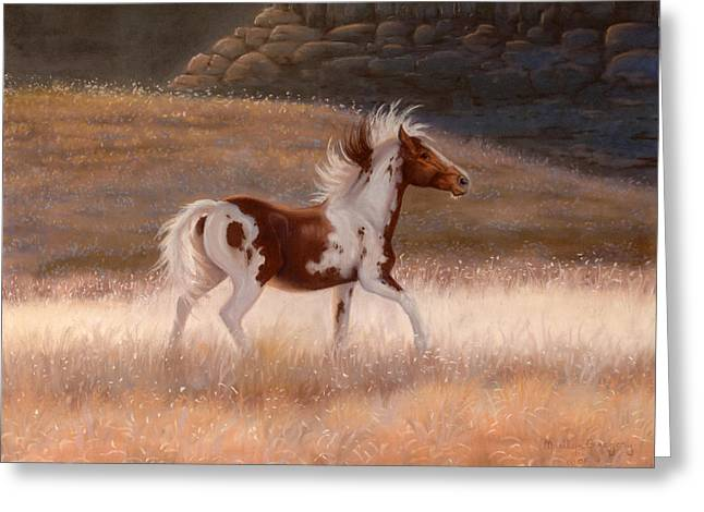 The Horse Greeting Cards - Freedoms Dance Greeting Card by Tracy Mohr