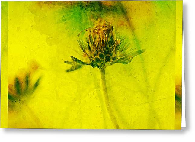 Green And Yellow Greeting Cards - Freesia Yellow Flower  Greeting Card by Bonnie Bruno