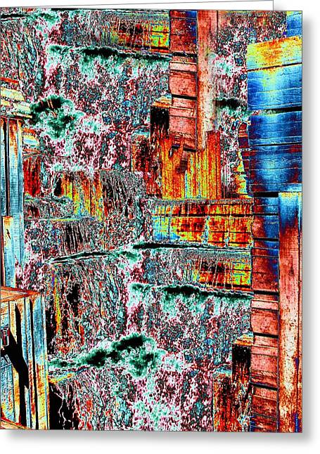 Abstract Waterfall Greeting Cards - Freeway Park 6 Greeting Card by Tim Allen
