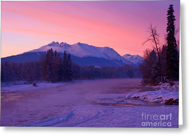 Sunset Greeting Cards Greeting Cards - Freezing Under the Glow Greeting Card by Stanza Widen