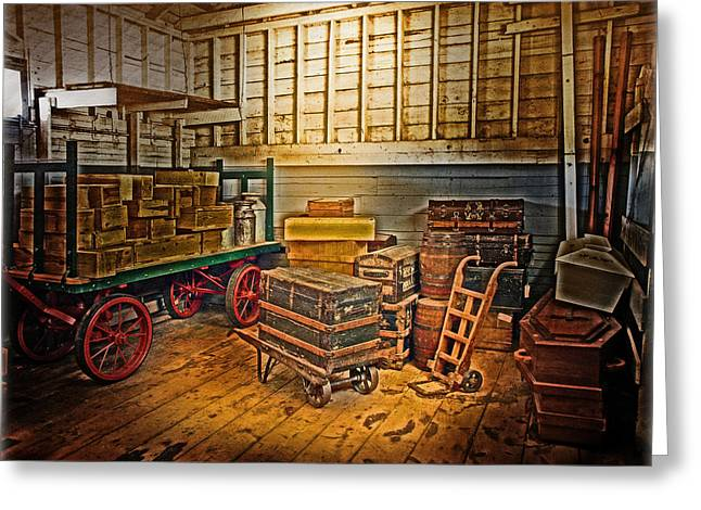 Interior Still Life Greeting Cards - Freight Greeting Card by John Anderson