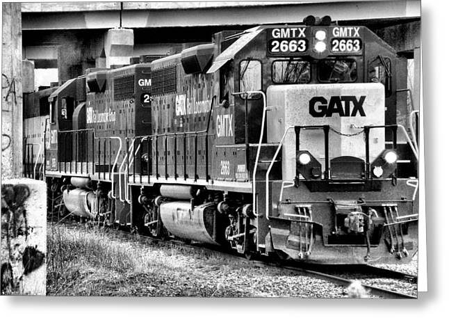 Rail Greeting Cards - Freight Train 3 Greeting Card by Scott Hovind