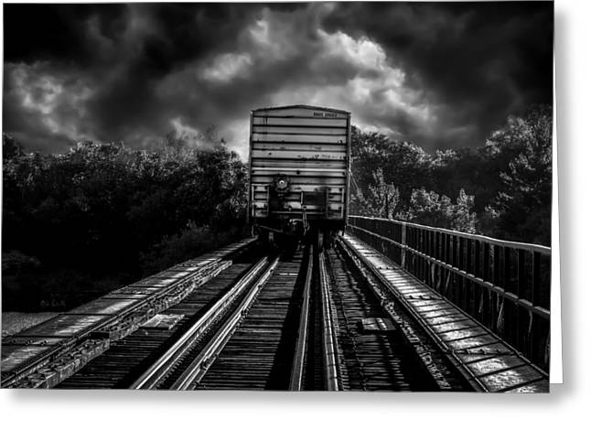 Freight Train Blues Greeting Card by Bob Orsillo