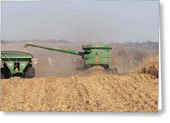 Fremont County Iowa Corn Harvest Greeting Card by J Laughlin