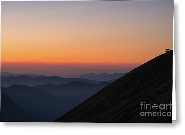 Fremont Lookout Sunset Layers Vision Greeting Card by Mike Reid