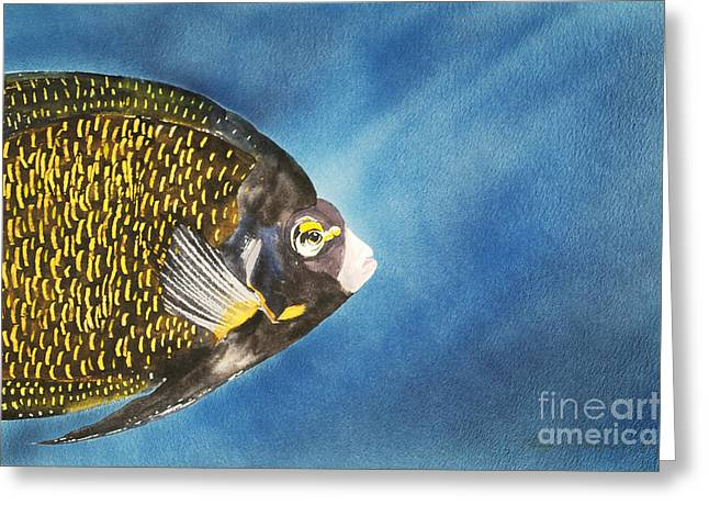Underwater View Paintings Greeting Cards - French Angel Greeting Card by Tanya L Haynes - Printscapes