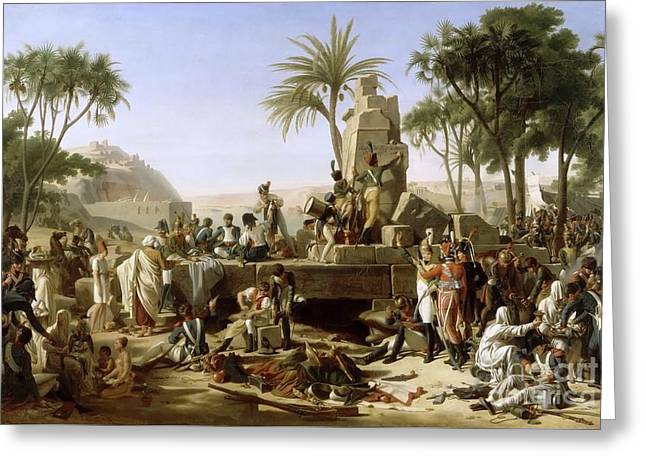 French Army Bivouac In Aswan Greeting Card by Jean